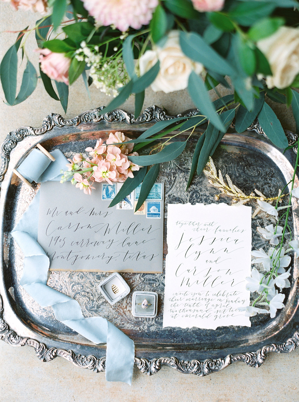 Calligraphy Invitation Suite | Credit: Courtney Leigh