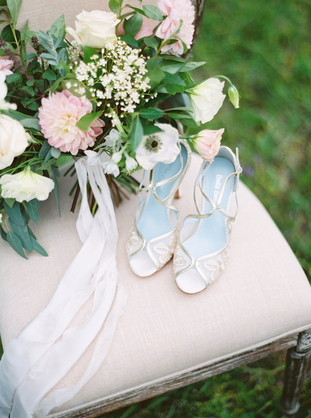 Silver Wedding Shoes | Credit: Courtney Leigh