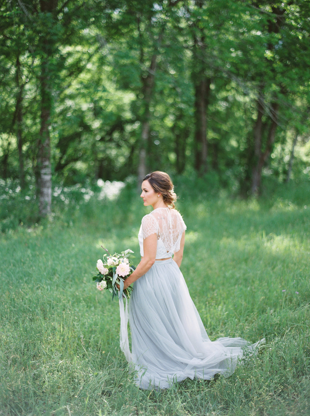 Two Piece Wedding Dress | Credit: Courtney Leigh