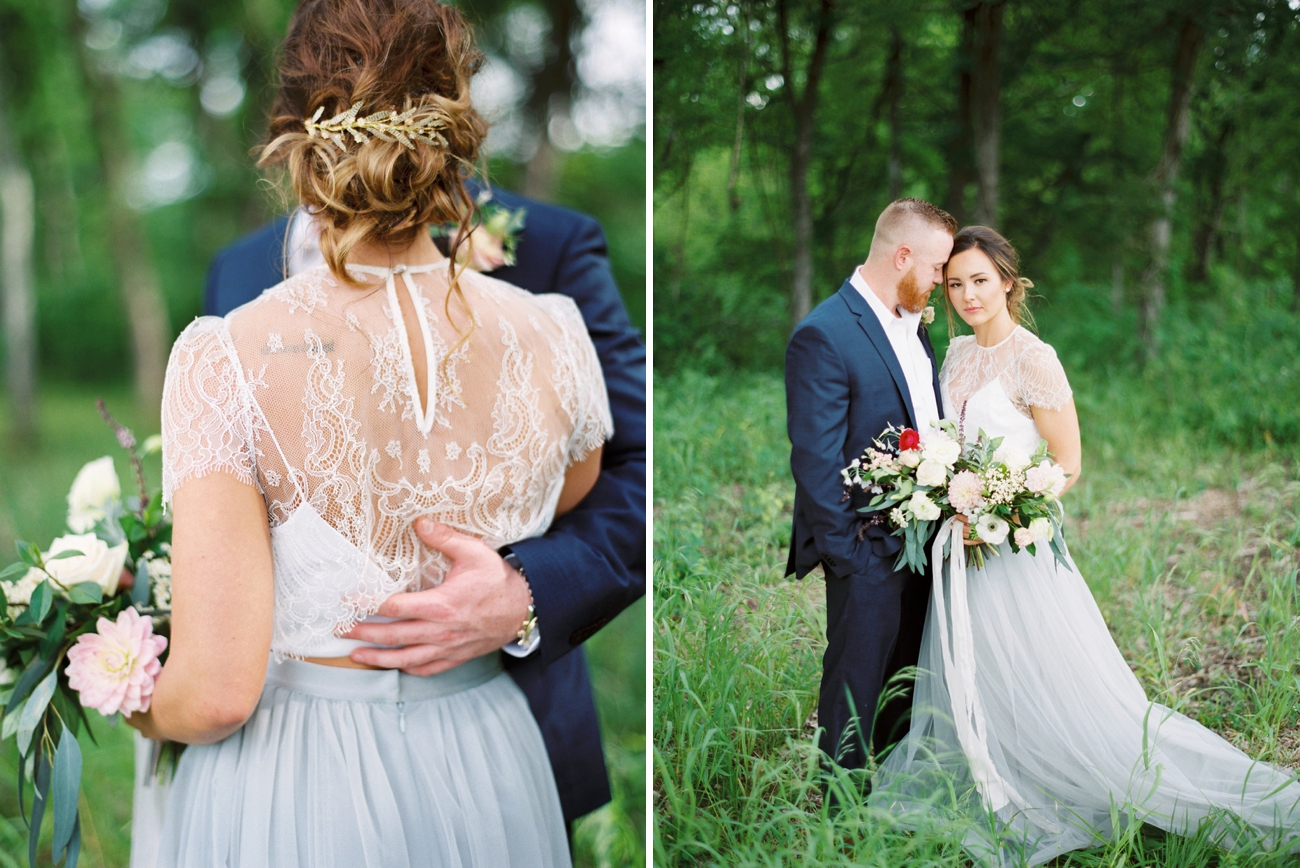 Lace Overlay Wedding Dress | Credit: Courtney Leigh