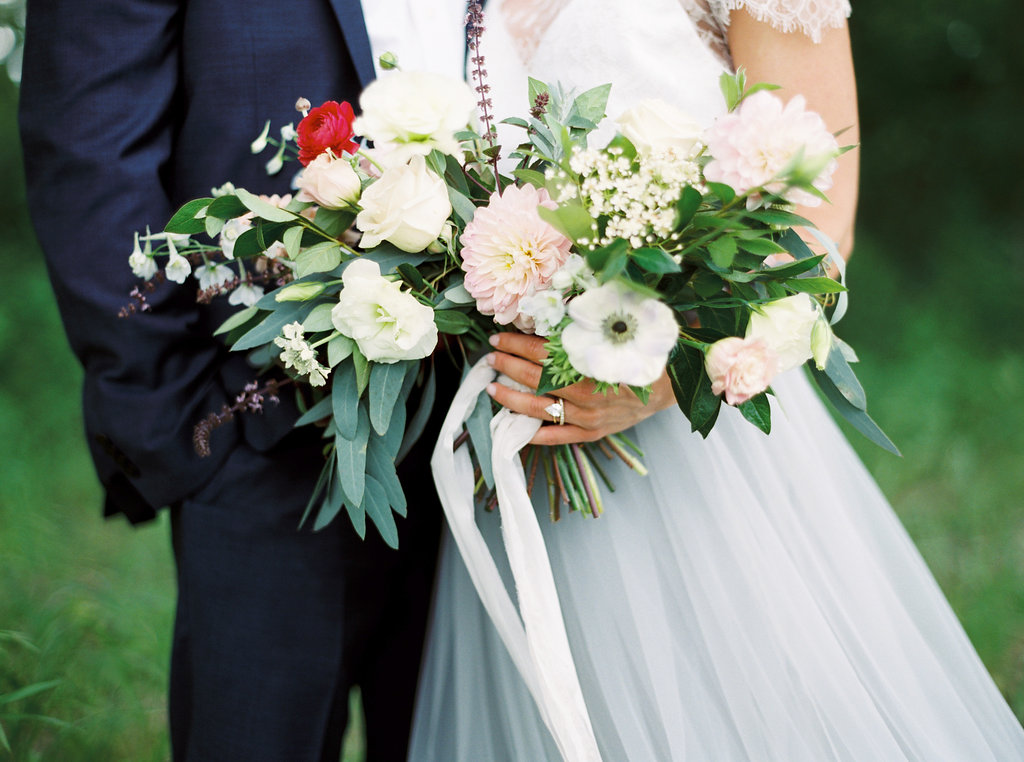 Wedding Bouquet with Ribbon Tie | Credit: Courtney Leigh