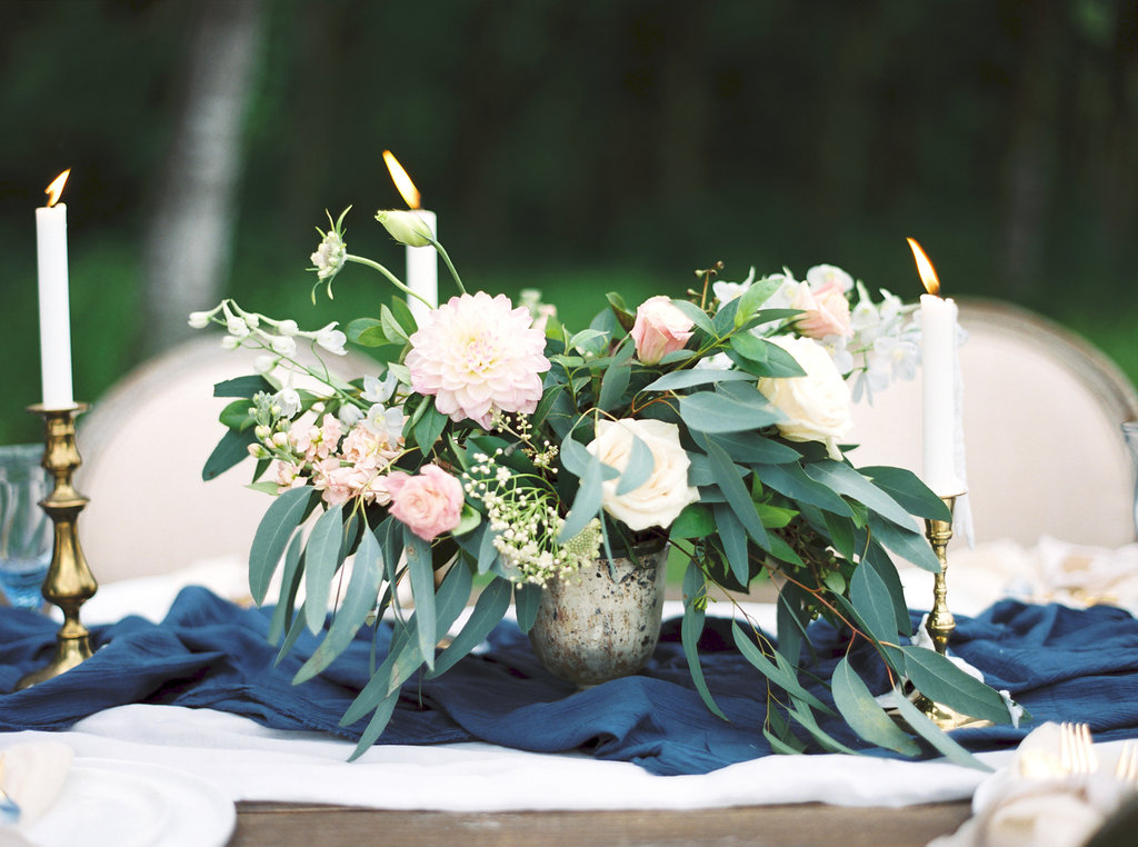 Pastel Organic Centerpiece | Credit: Courtney Leigh