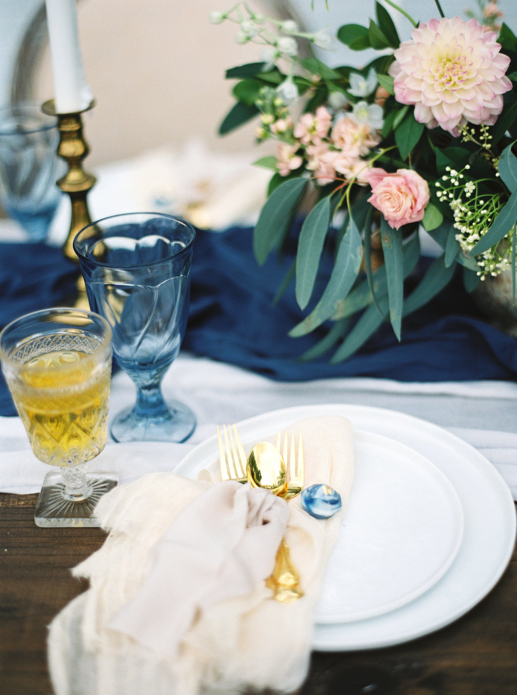 Blue & Gold Place Setting | Credit: Courtney Leigh