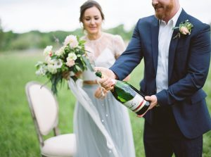 Champagne Engagement | Credit: Courtney Leigh