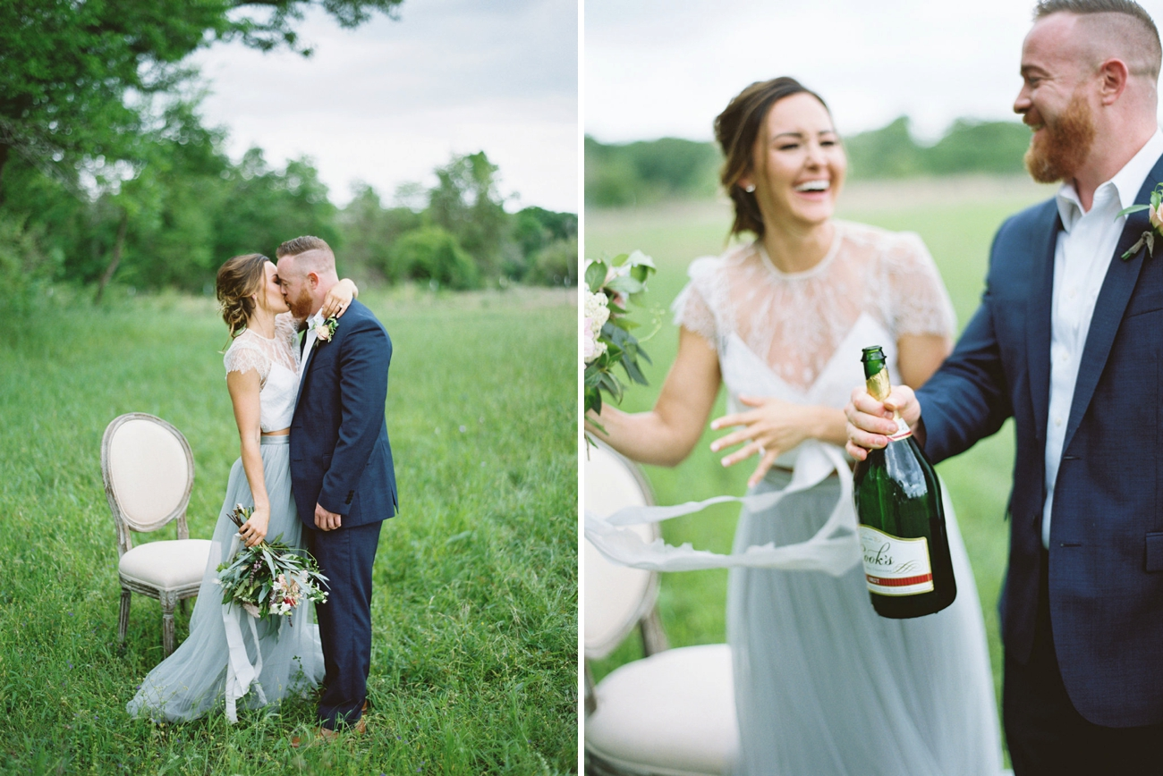 Dreamy Blue Wedding Inspiration with a Surprise Proposal | Credit: Courtney Leigh