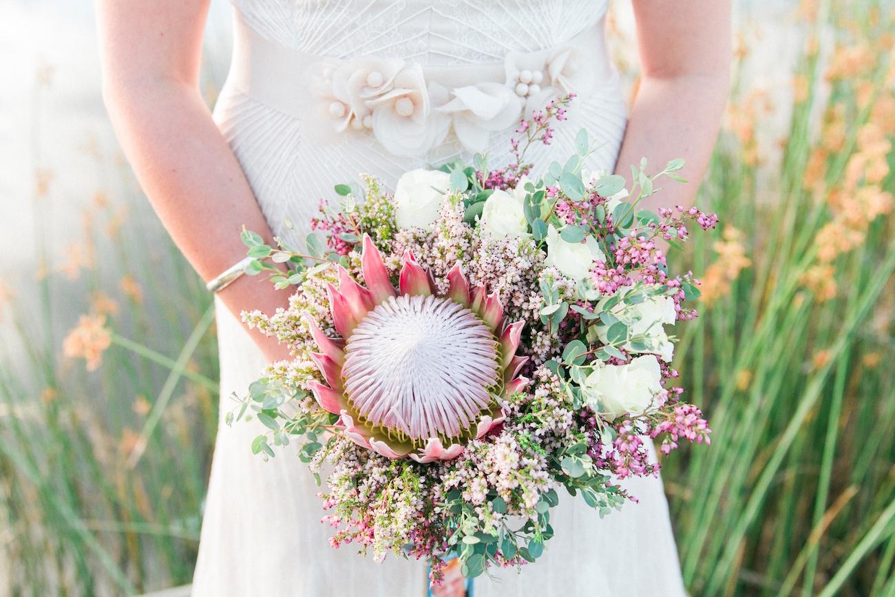 Protea Rose Fynbos Bouquet | Image: Maxeen Kim