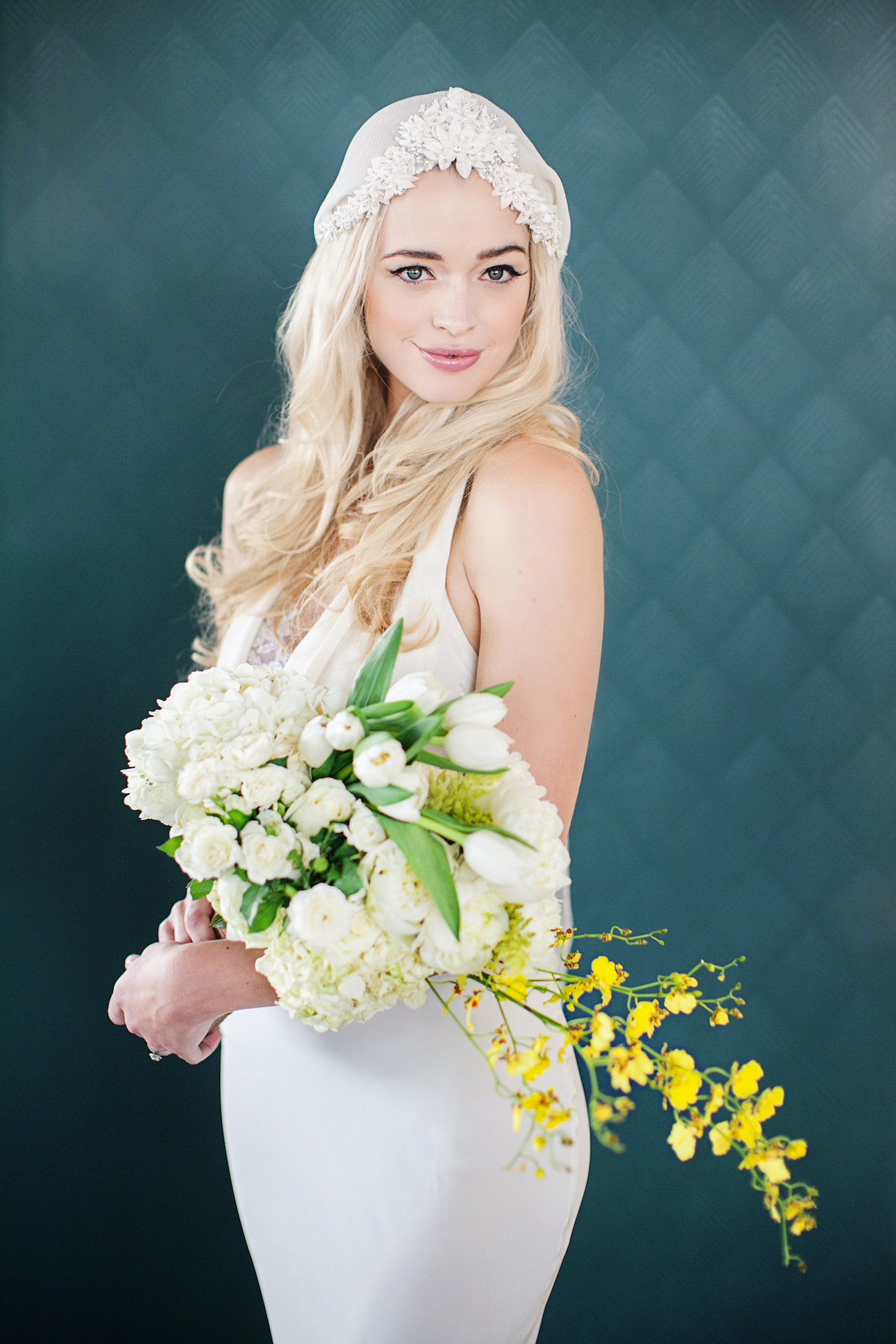 Bohemian Bride with Bright Bouquet   Credit: Wedding Concepts & Tyme Photography