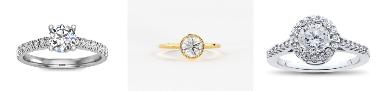 round cut Engagement Rings from Etsy