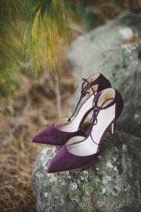 Purple Wedding Shoes | Credit: Roxanne Davison