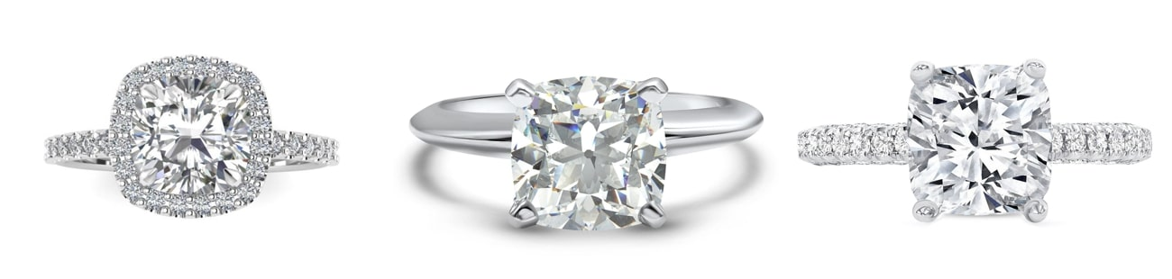 cushion cut Engagement Rings from Etsy