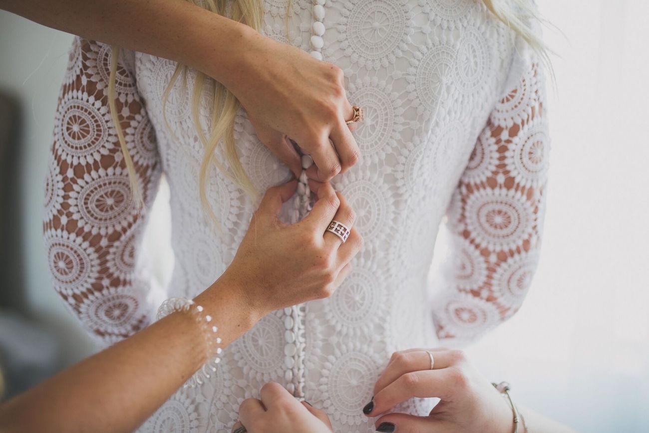 Boho Lace Wedding Dress | Credit: Vicky Bergallo