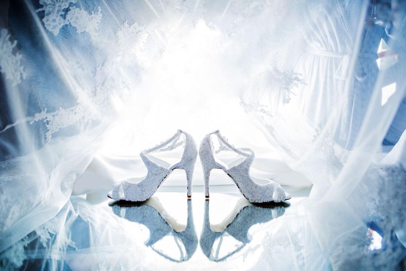 Lace Wedding Shoes | Image: Daniel West