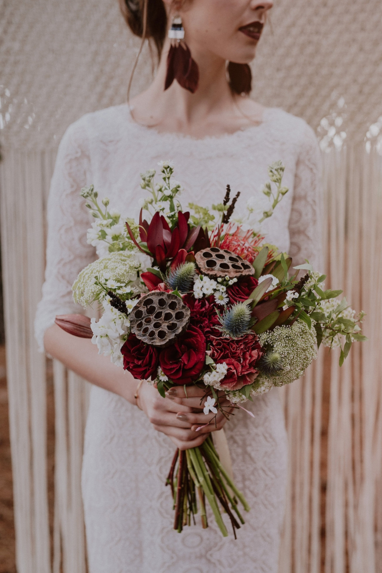 Rustic Wedding Bouquet | Credit: Lad & Lass Photography