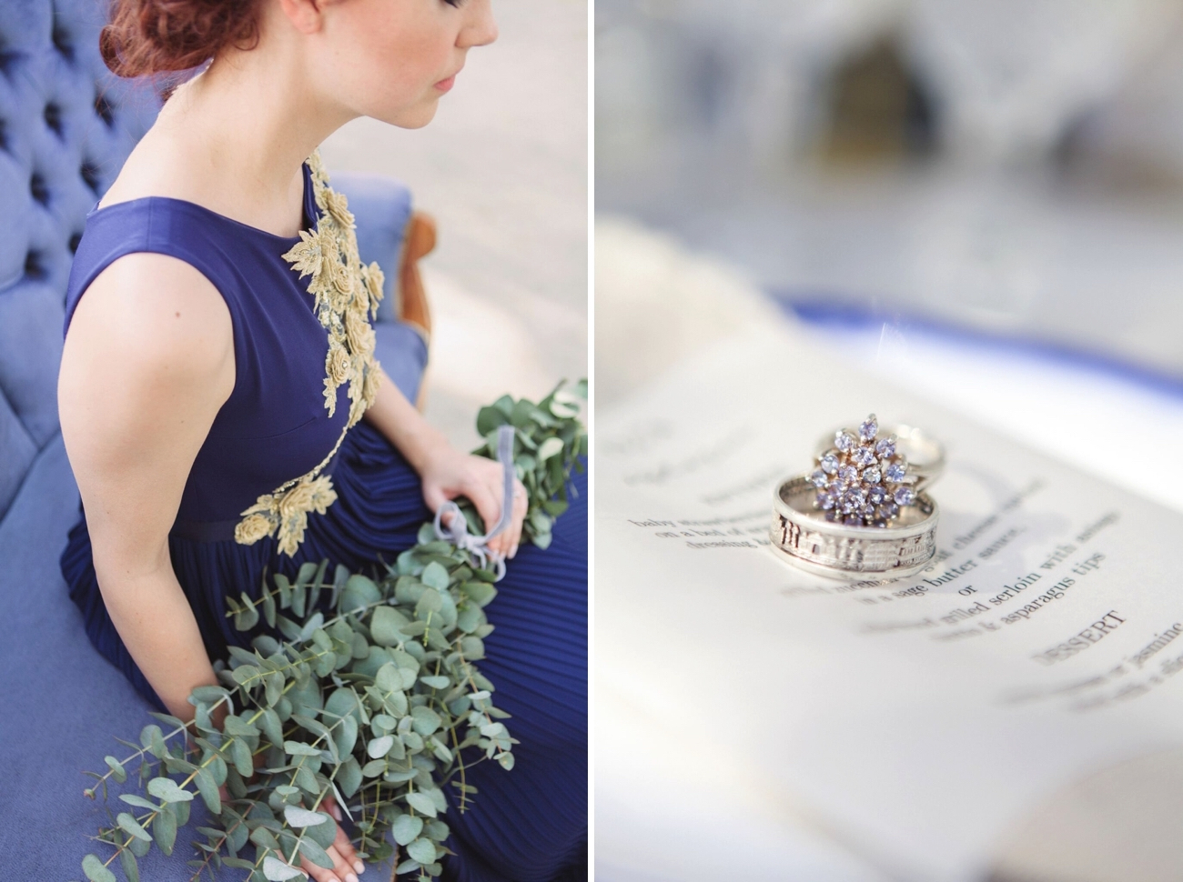 Indigo & Grey Rustic Wedding Inspiration   Credit: Dust & Dreams Photography