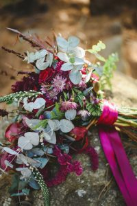 Jewel Tone Wedding Bouquet | Credit: Roxanne Davison