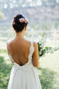 Lace Wedding Dress with Bow Detail | Images: Marli Koen