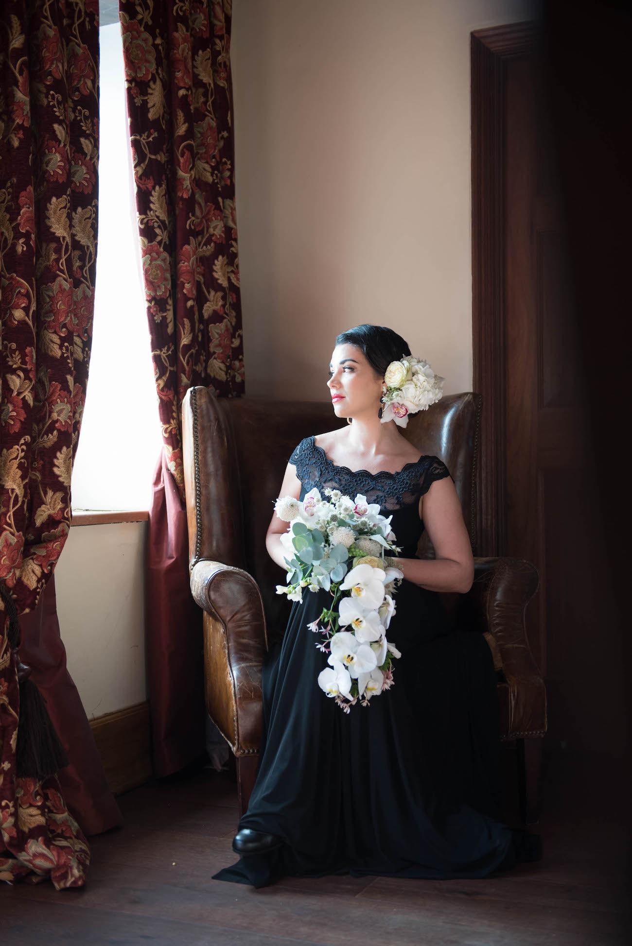 Black Lace Wedding or Bridesmaid Dress | Credit: Jacoba Clothing/Forever September