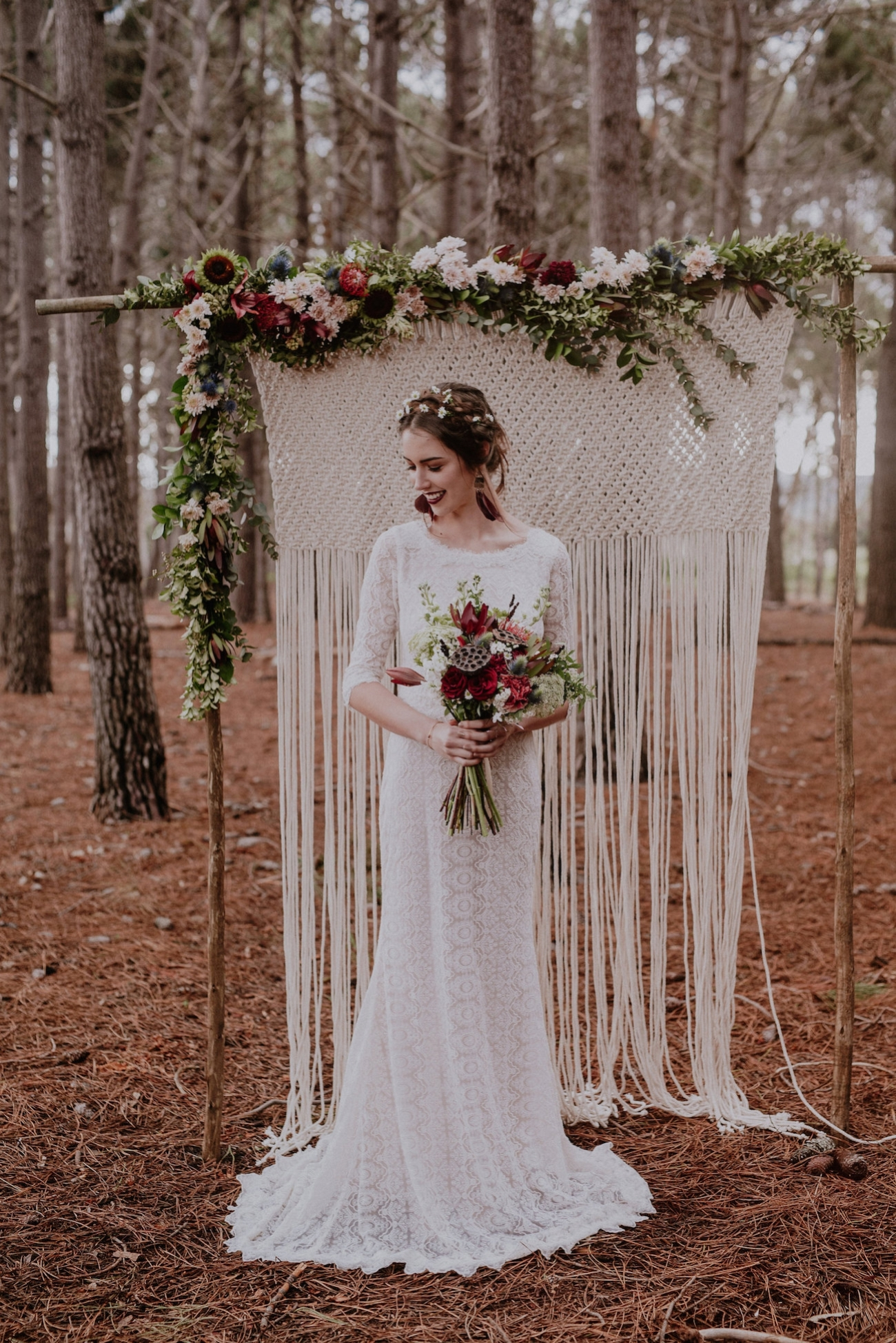 Boho Lace Wedding Dress | Credit: Lad & Lass Photography