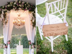 Luxurious Floral Wedding Ceremony Decor | Credit: Tyme Photography & Wedding Concepts