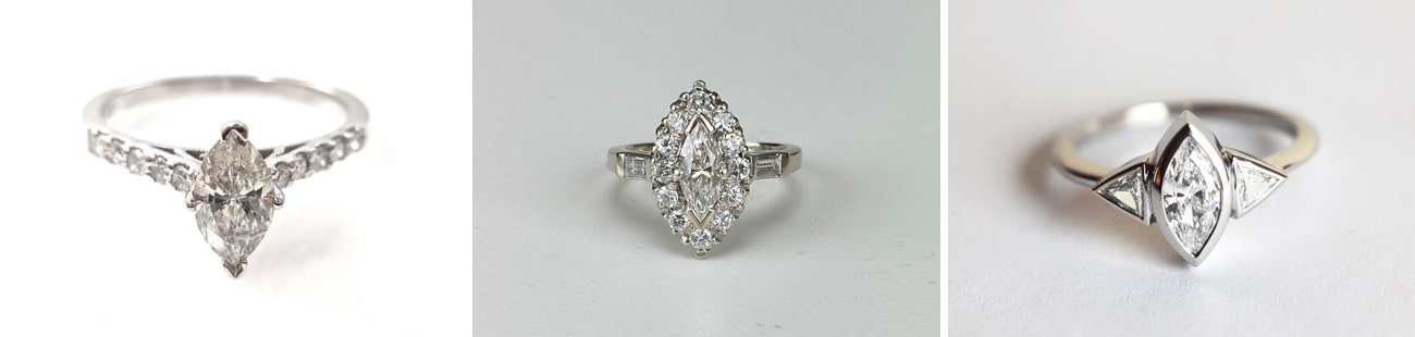 marquise cut Engagement Rings from Etsy