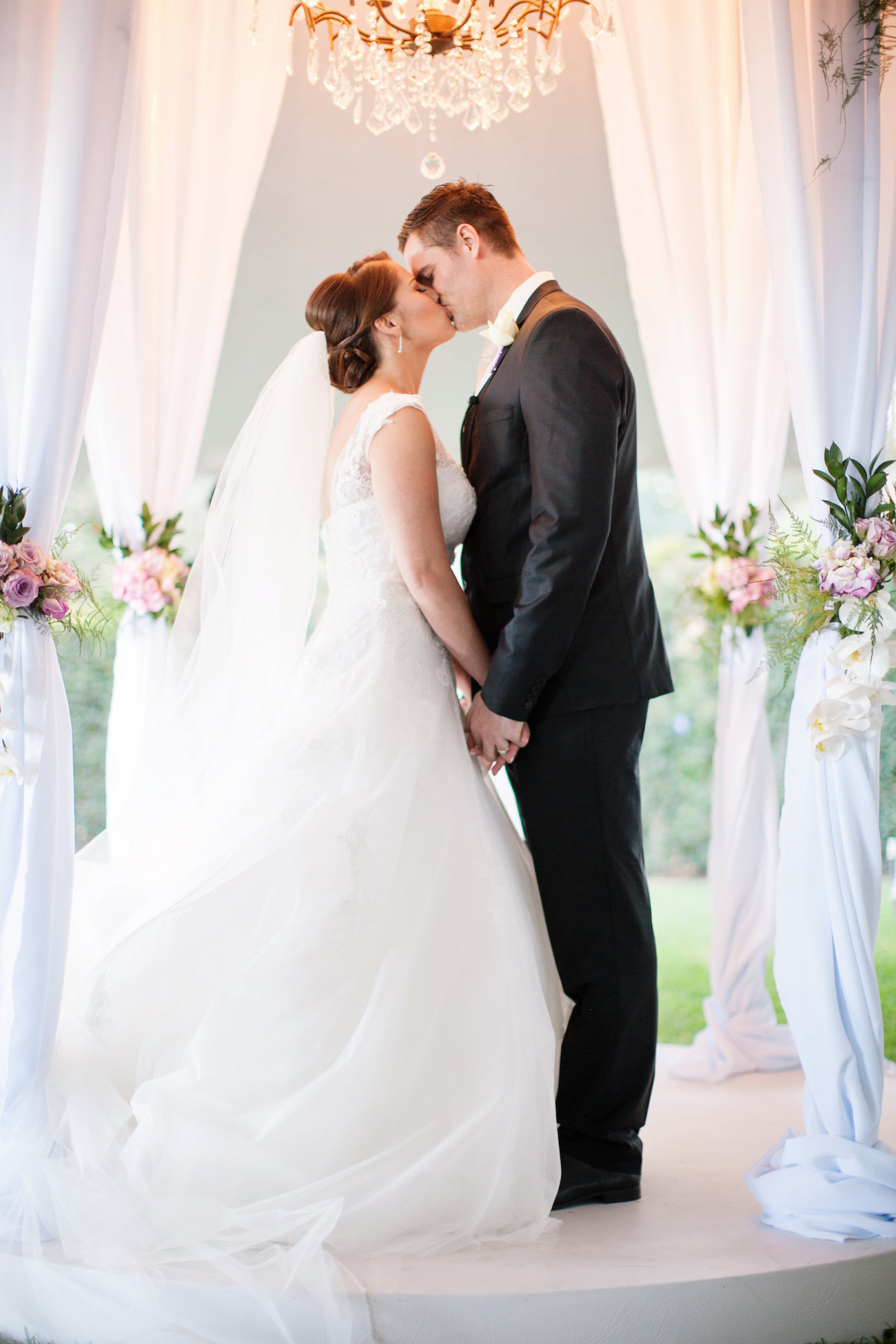 Luxurious Floral Wedding Ceremony | Credit: Tyme Photography & Wedding Concepts
