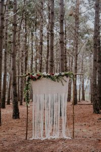 Macrame Wedding Arch | Credit: Lad & Lass Photography