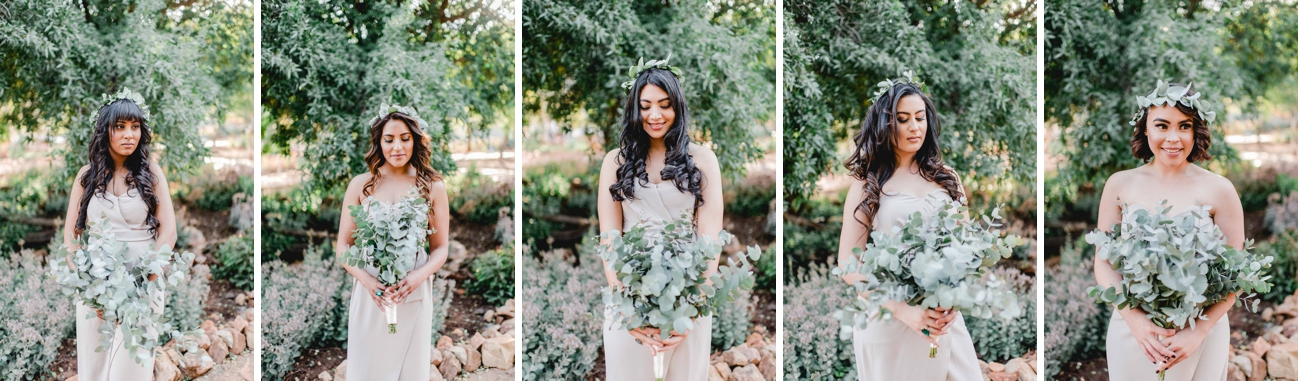 Bridesmaids with Greenery Crowns | Image: Carla Adel