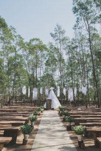 Boho Wedding Ceremony Decor with Tipi | Credit: Vicky Bergallo
