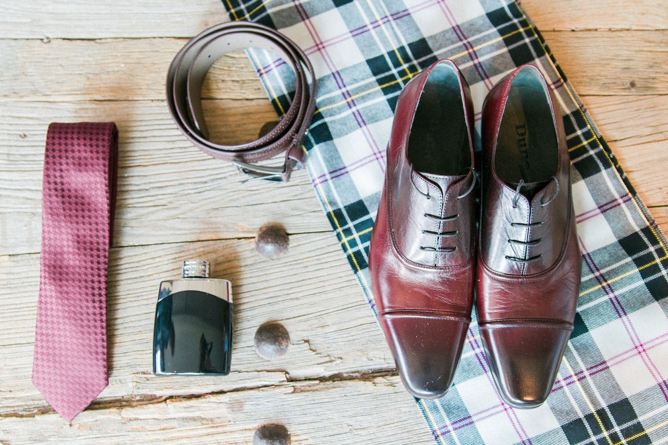 Groom Shoes Flat Lay | Image: Maxeen Kim