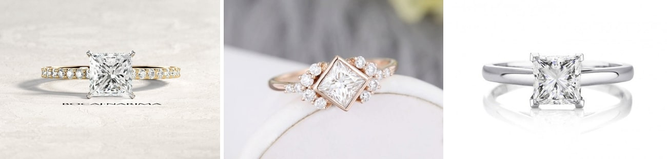 princess cut Engagement Rings from Etsy