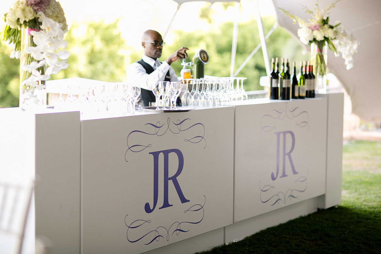 Wedding Bar with Monogram | Credit: Tyme Photography & Wedding Concepts