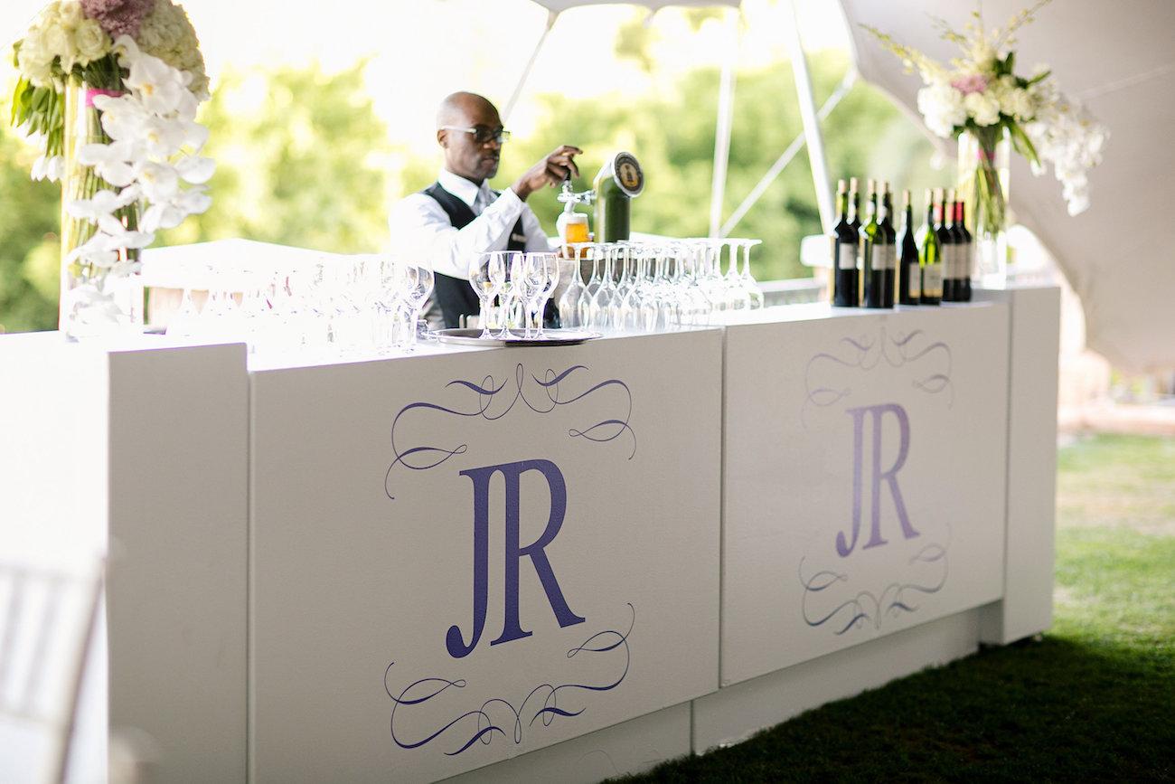 Wedding Bar with Monogram | Credit: Tyme Photography & Wedding Concepts