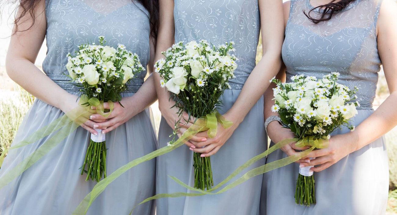 Grey Lace Bridesmaid Dresses | Image: Daniel West