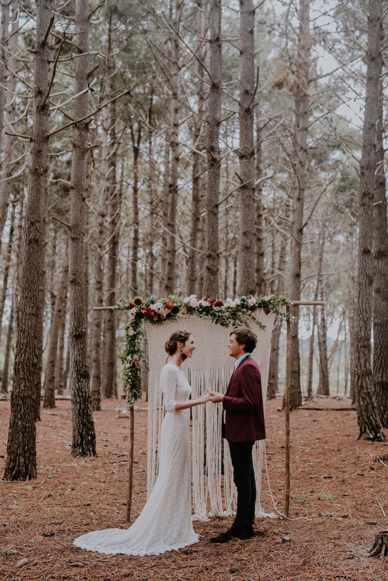Woodland Wedding Ceremony | Credit: Lad & Lass Photography