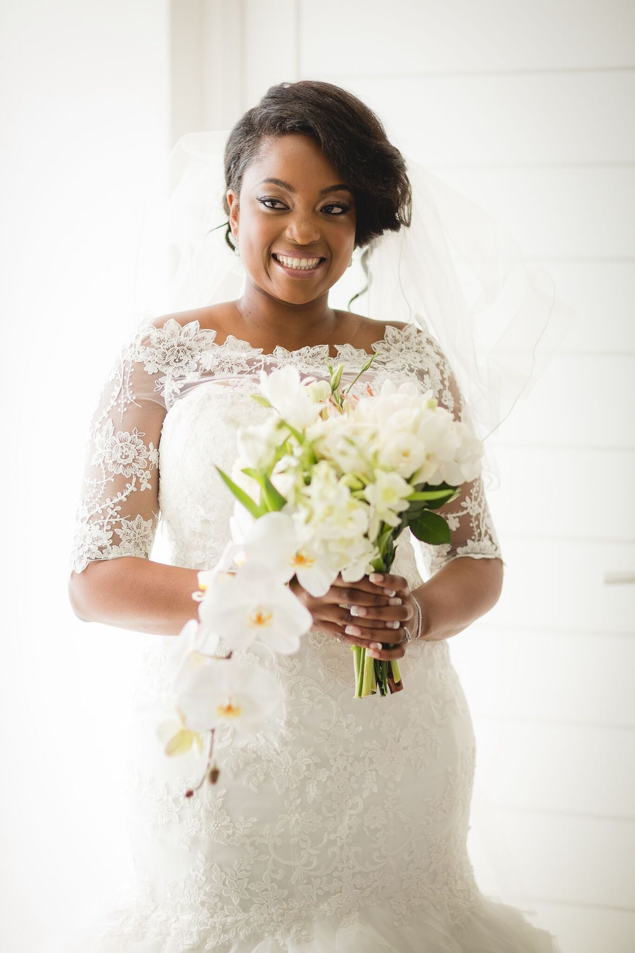 Lace Sleeve Wedding Dress | Image: Daryl Glass