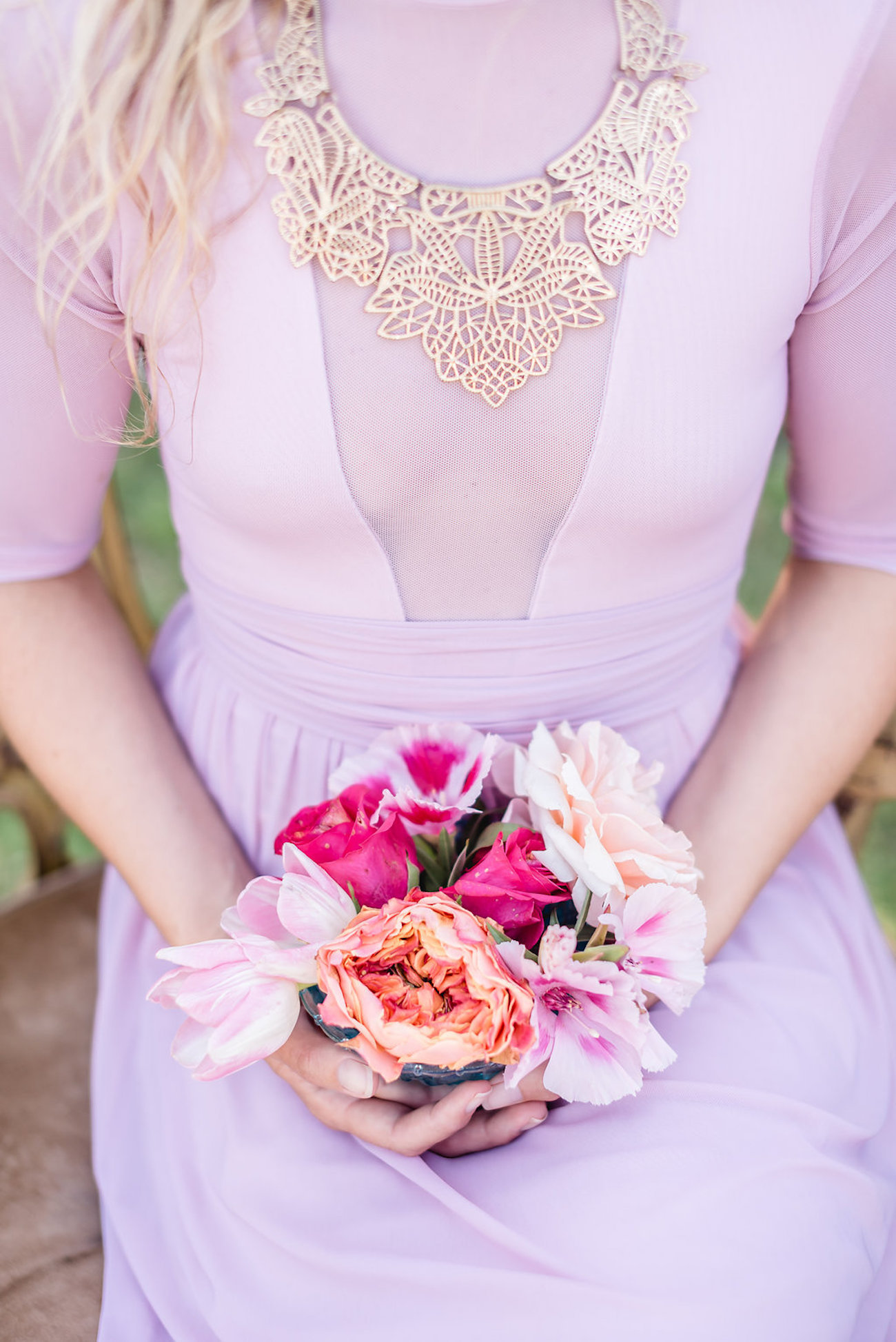 Pink Lace Bridesmaid or Wedding Dress | Credit: Jacoba Clothing/PhotoKru