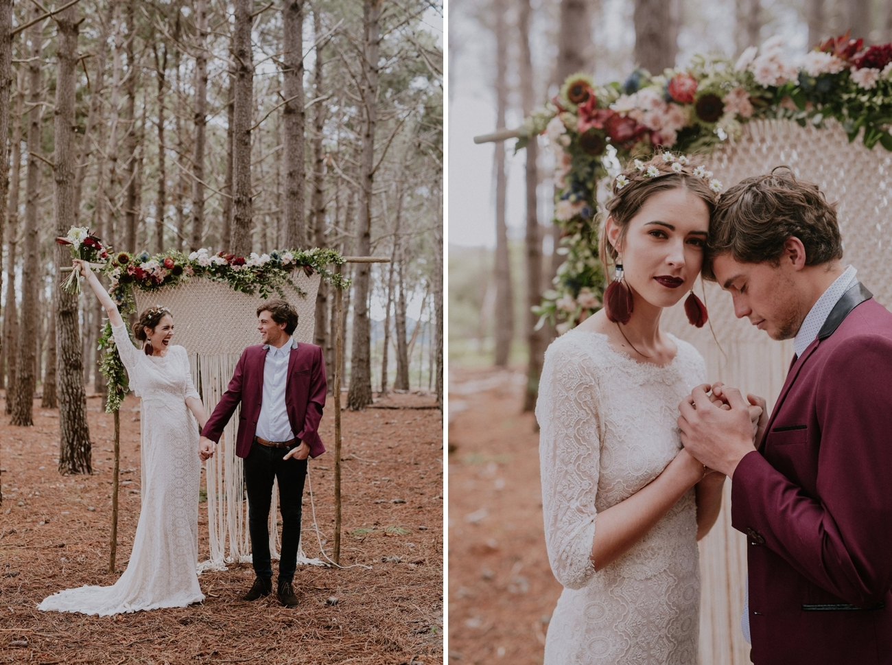 Forest Wedding Ceremony | Credit: Lad & Lass Photography