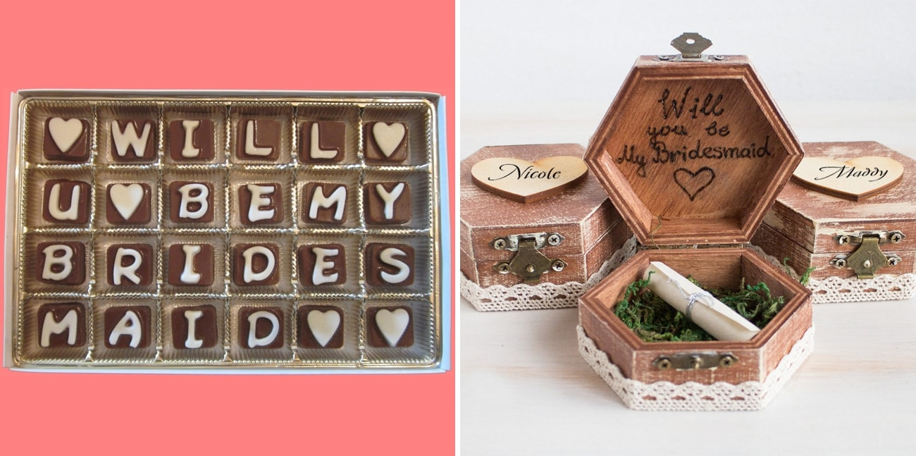 Ask Bridesmaid Invitation Gift By What Candy Says Left Will You Be My Proposal Box House Of Dreams Right