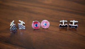 Superhero Cufflinks | Image: Daniel West
