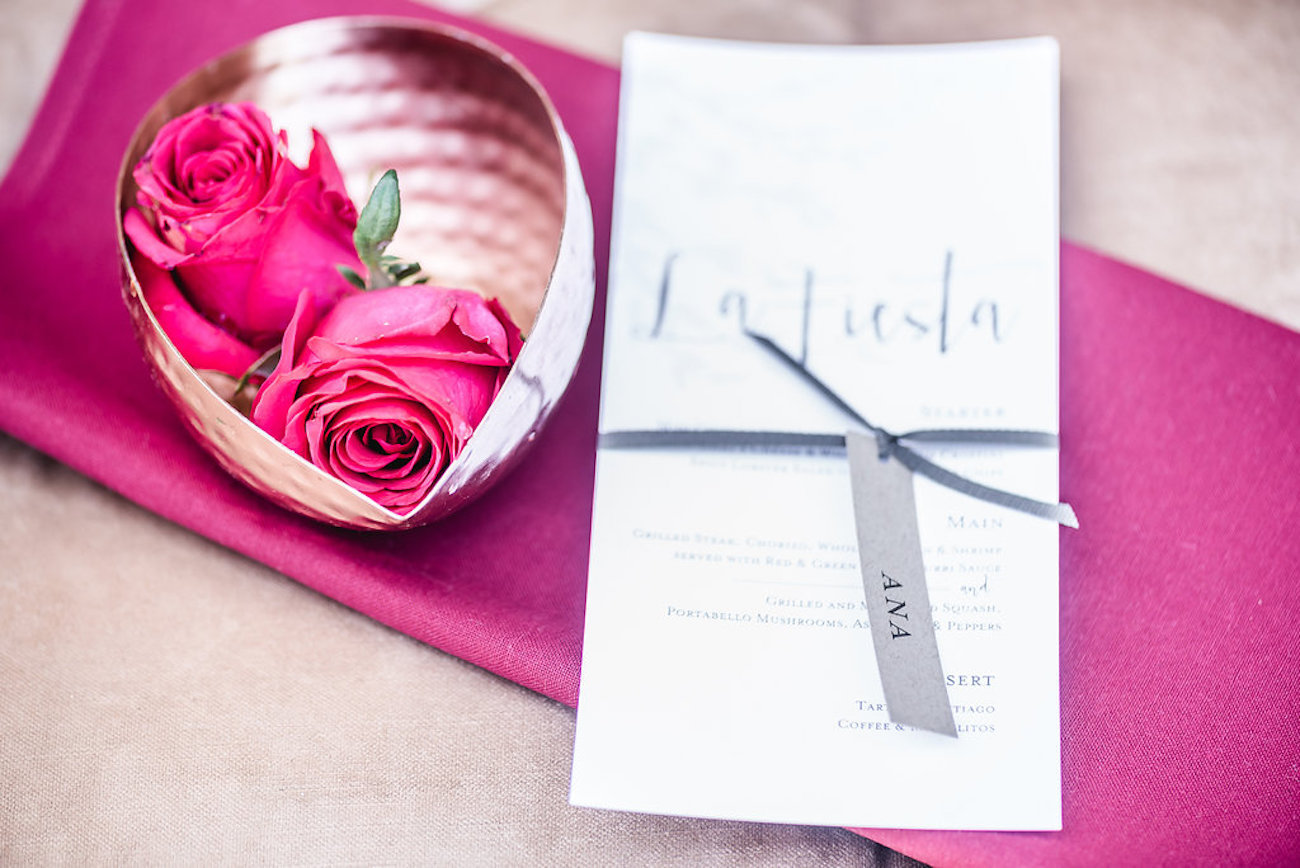 Fuschia Pink Wedding | Credit: Jacoba Clothing/PhotoKru