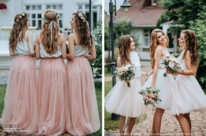 two-piece bridesmaid dress