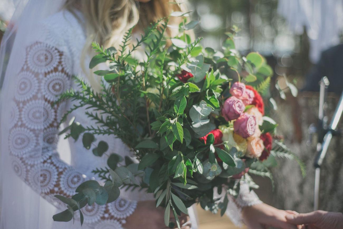 Greenery Bouquet | Credit: Vicky Bergallo