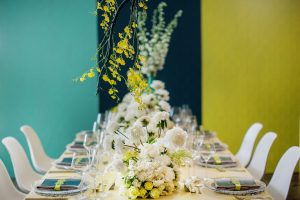 Summer Brights Wedding Tablescape | Credit: Wedding Concepts & Tyme Photography