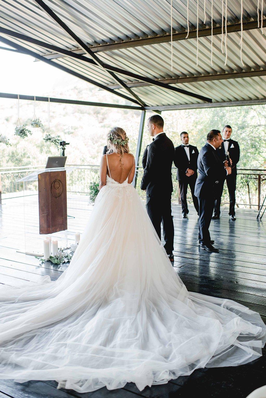 Graceful Greenery Wedding Ceremony | Image: Carla Adel
