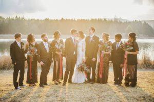 Sunset Bridal Party Portrait | Credit: Roxanne Davison