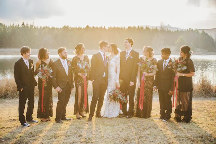Sunset Bridal Party Portrait   Credit: Roxanne Davison