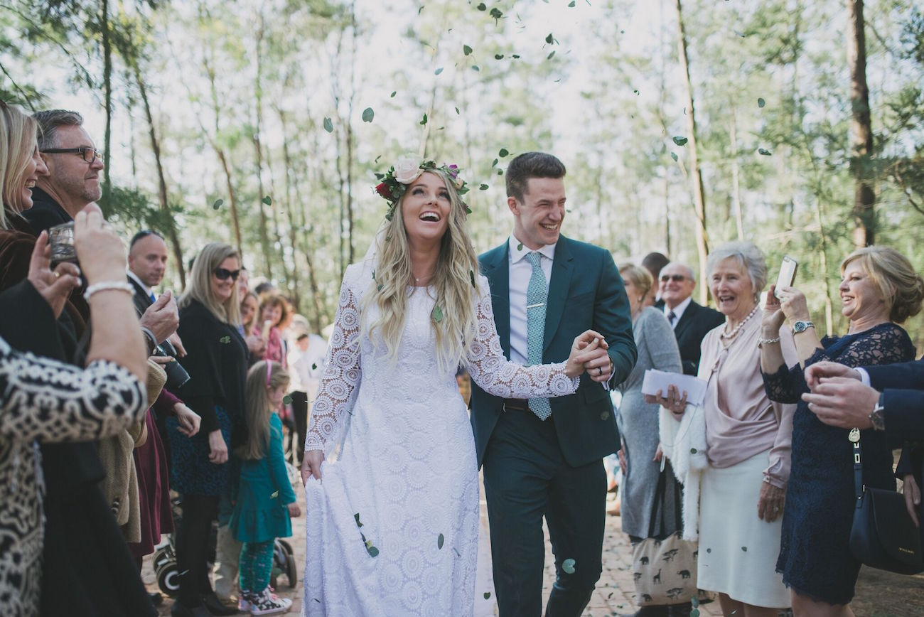 Free Spirited Forest Wedding Ceremony | Credit: Vicky Bergallo