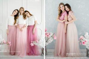 two-piece bridesmaid dress