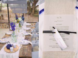 Indigo & Grey Rustic Wedding Inspiration | Credit: Dust & Dreams Photography