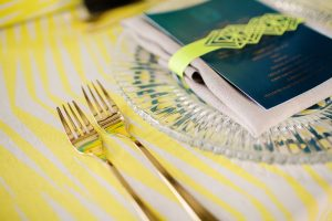 Neon Place Setting | Credit: Wedding Concepts & Tyme Photography